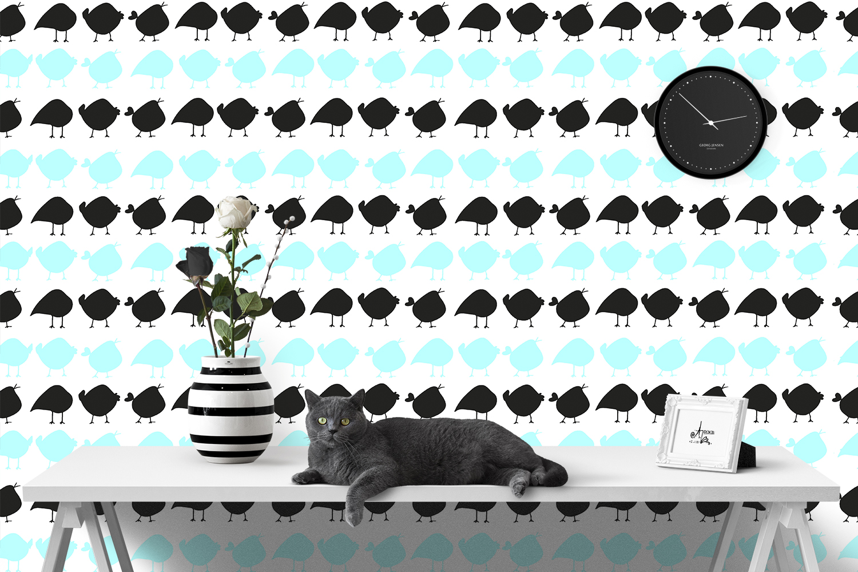 Birdies Wallpaper Mock Up