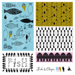 Fish & Chips Tea Towel Designs