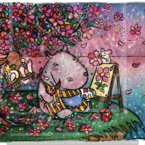 WU179 Painting Flowers