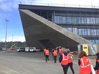 visite du chantier du stade de la tuilière à lausanne