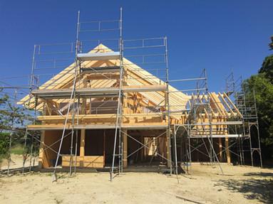 construction d'une villa à ossature bois