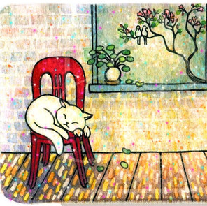 Cat on Kopitiam Chair