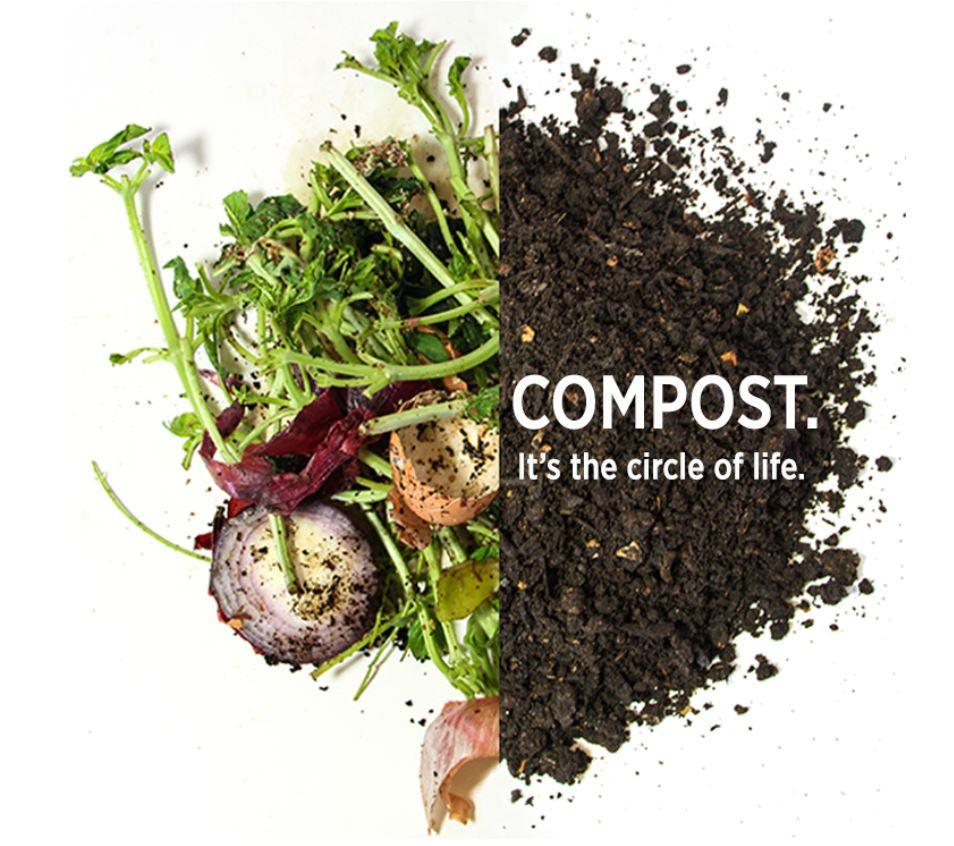 Food waste to compost circle