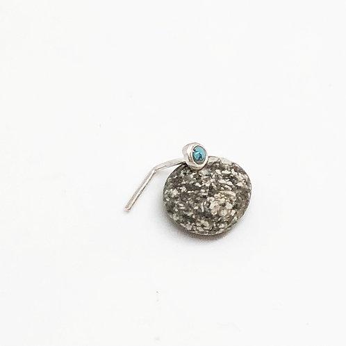 Pin Stone Plata Turquesa