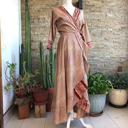 Vestido Wrap largo