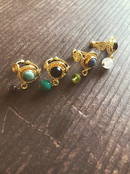 Earcuffs mini con piedra