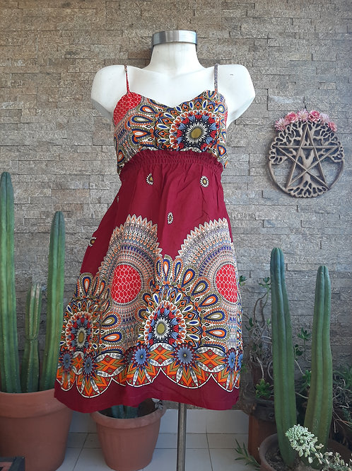 Vestido Mini Caleido Red