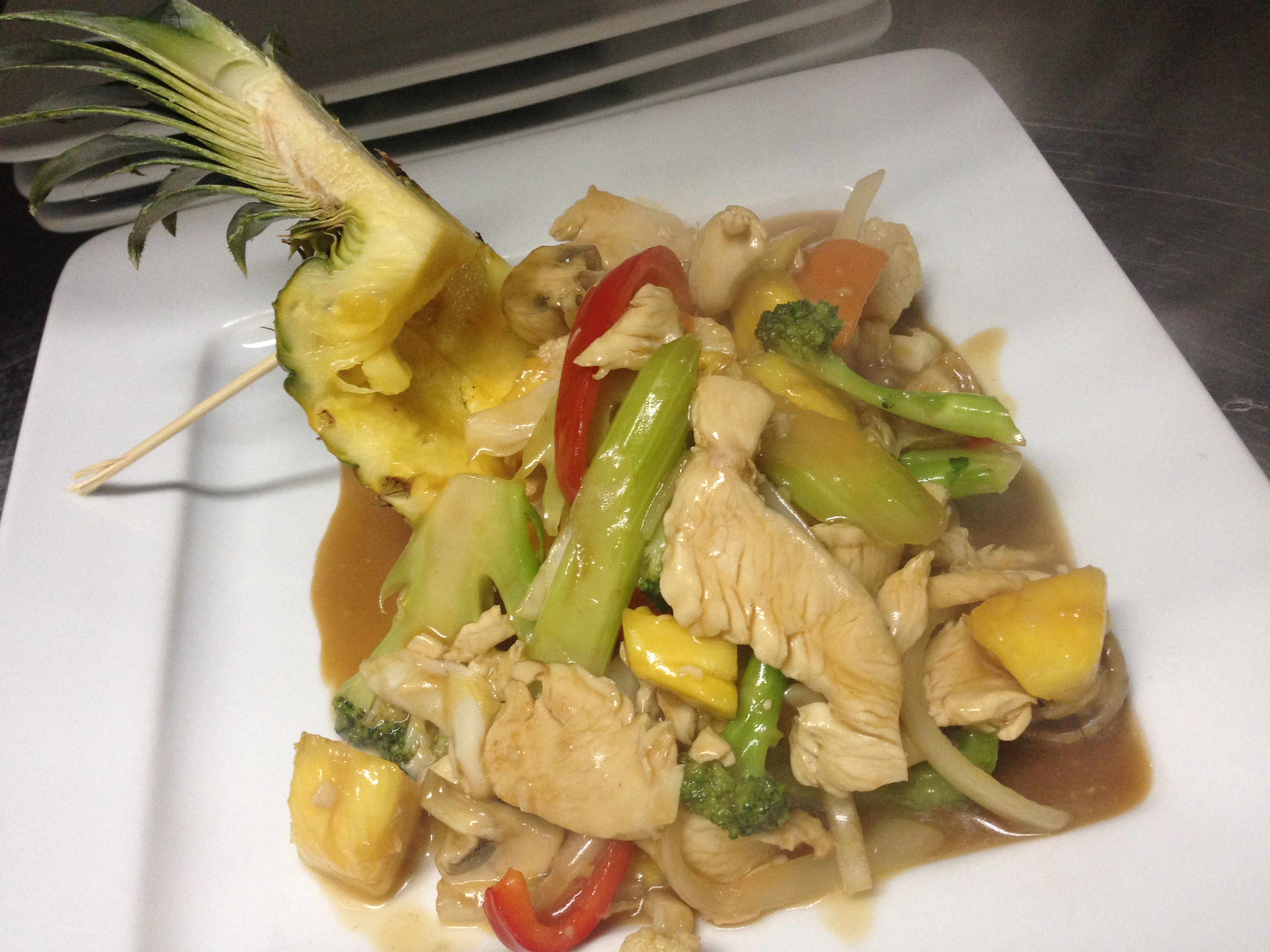 Poulet aux ananas/Pineapple chicken