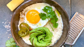 Mexican Inspired Savoury Kefir Oats 🥑🌶🧀🍳