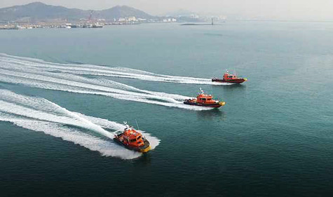 We have completed delivery of seven units 122 rescue boats of Korea Maritime Police.