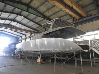 65' 세일 카타마란 2척 건조 65' sailing catamaran under construction