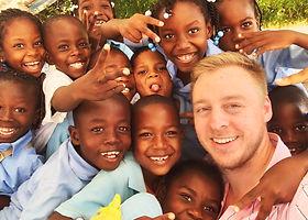 Nathan with kids