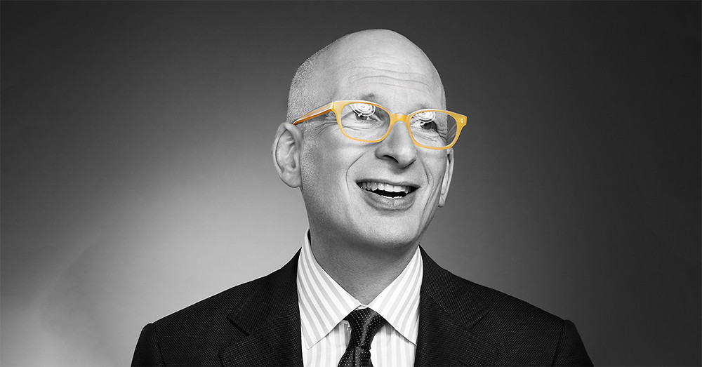 Marketer, Seth Godin in yellow framed glasses