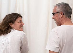 Mélanie Le Grand et Michel Reilhac - tournage film VR Viens!
