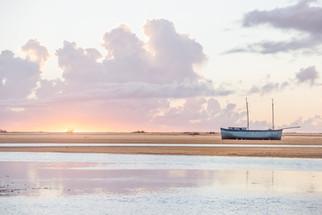 Landcape Madagascar sunset boat
