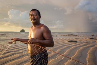Fisherman Portrait sunset Malaysia