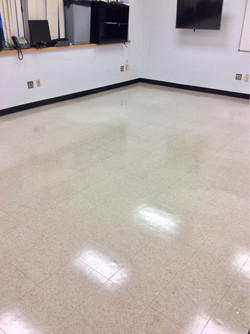 After stripping & waxing floors