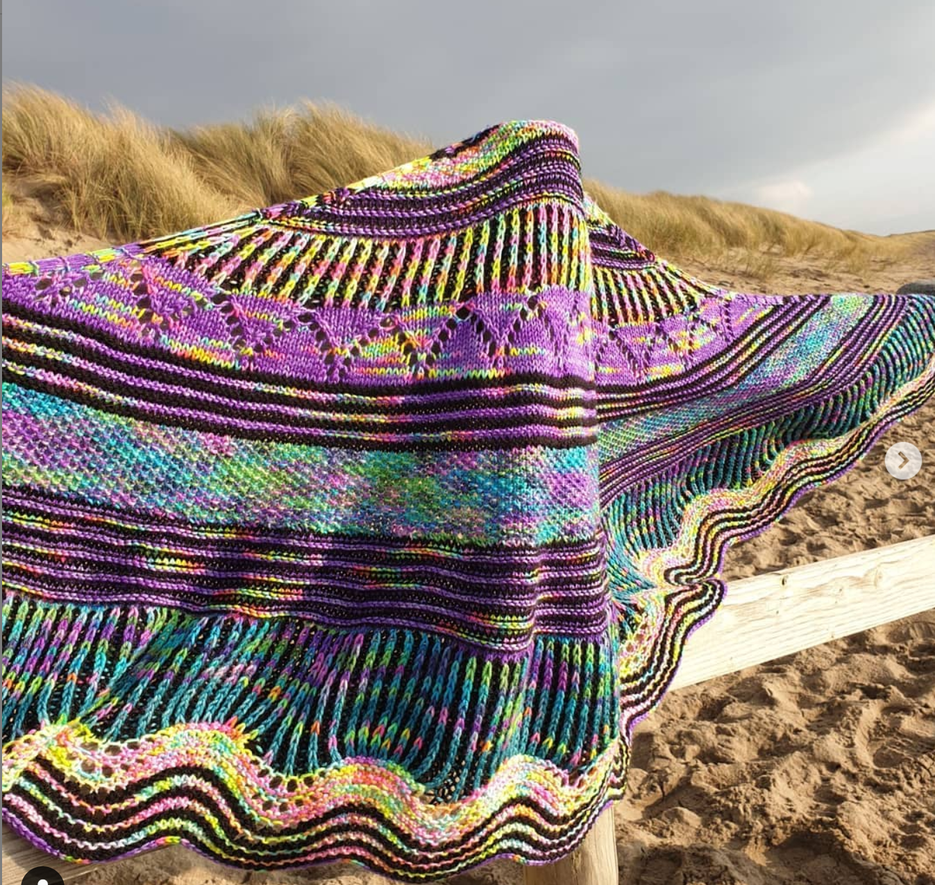 @Kdenty Stripified Shawl by Stephen West