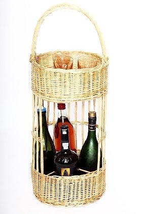 Porte-bouteilles en osier