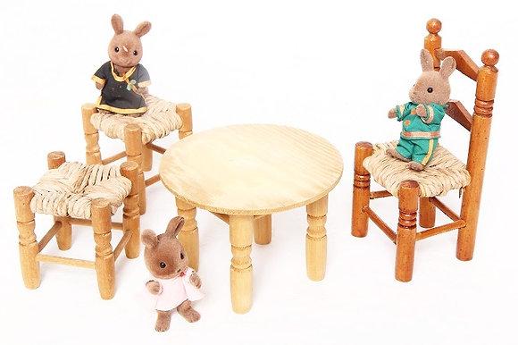 Salon en bois (jeu d'enfant)