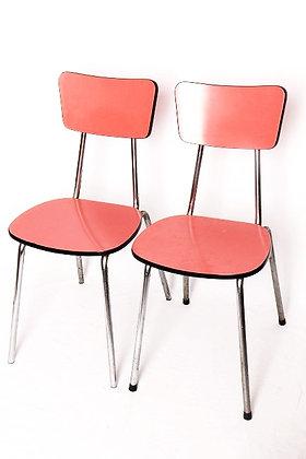 Paire de chaises en formica