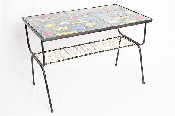 Table basse carreaux