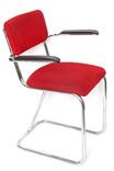 Chaise en velours style Gispen