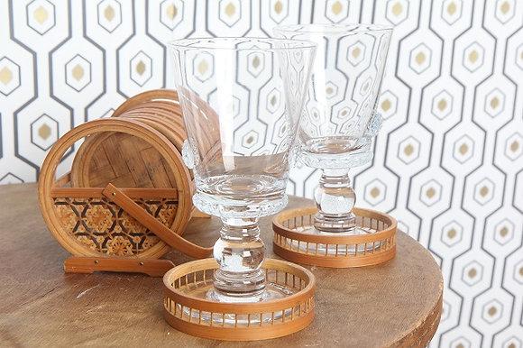Dessous de verre bambou & osier