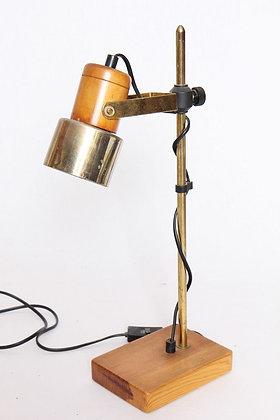 Lampe en bois & laiton