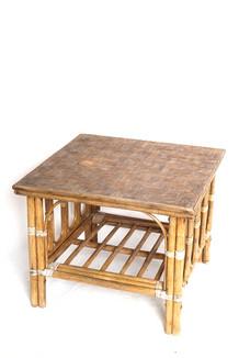 Table basse rotin
