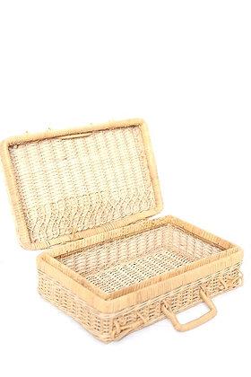Petite valise en osier