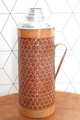Vase / Thermos en osier