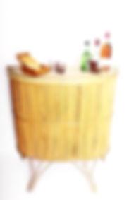 rotin,osier,bambou,bar,meuble,vintage,brocante