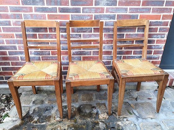 Chaise(s) bois et paille