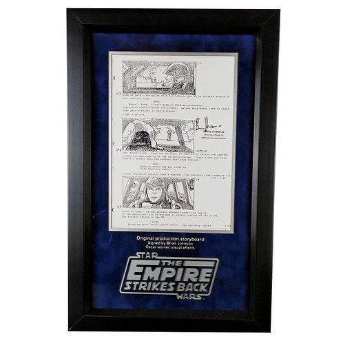Star Wars: The Empire Strikes Back Production Storyboard Signed by Brian Johnson
