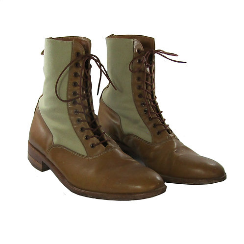 The Rolling Stones: Charlie Watts Pale Tan Leather lace-up boots  circa 1960/70'