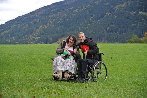 Christine und Georg beim Fotoshooting