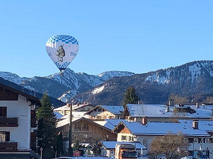 Der Heißluftballon über Tegernsee