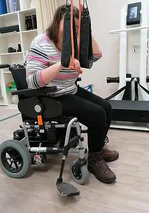 Christine beim Trainieren