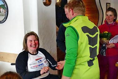 Christine Göttfried bei der Siegerehrung