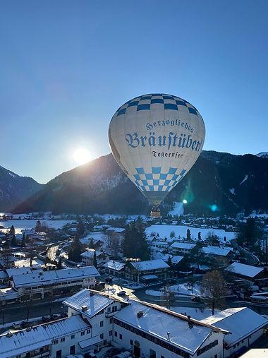 Der Heißluftballon über Christines Heimat