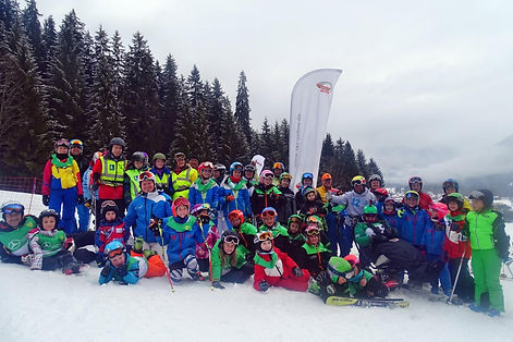 Die Teilnehmer des Inklusions Skicups
