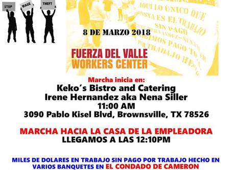 FUERZA DEL VALLE: Marcha en Brownsville Marzo 8/March in Brownsville March 8