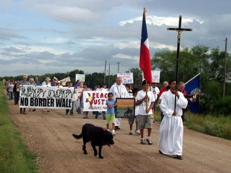 No Border Wall at Palm Sunday Procession