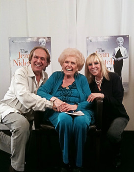 Donna Pascoe with Jean Neitch and her son, David. She started Weight Watchers and Donna was helping them write a book.