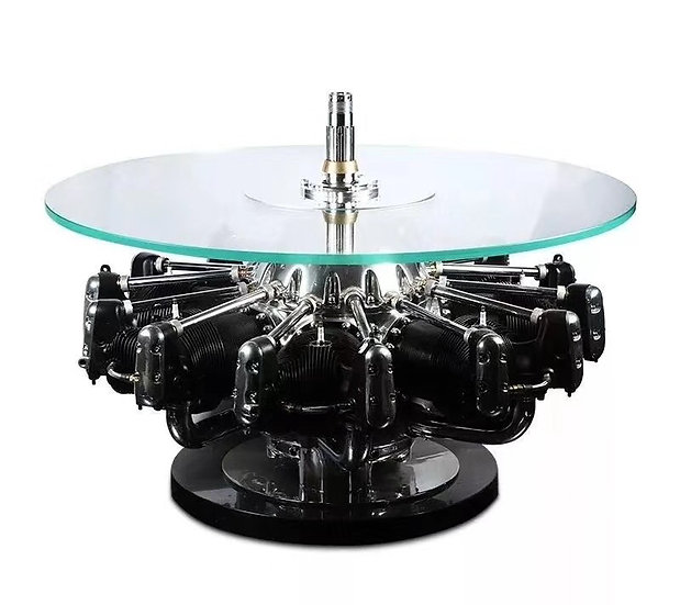 Jacobs Engine Table - Silver -R03-1