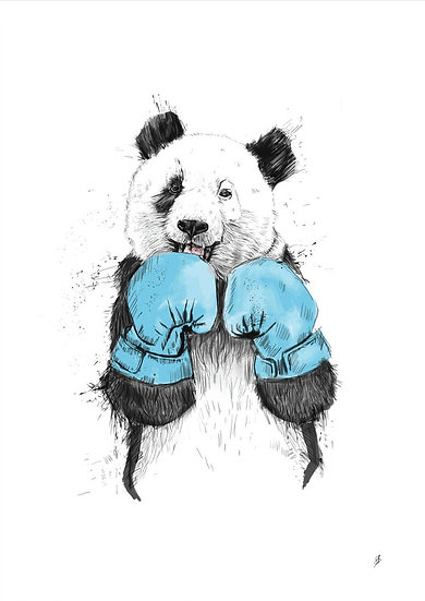 Boxing Panda Drawing