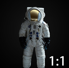 SPACEMAN 1 actual size
