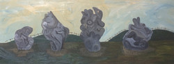 The Avebury Stone Circle (wip)_110x50cm_