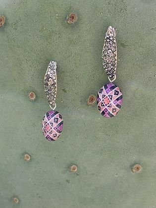 Finch egg earrings